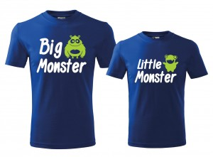 Koszulki dla TATY I SYNA - Big Monster Little Monster