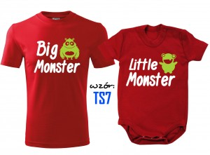 Zestaw dla Taty i Syna - Big Monster Little Monster